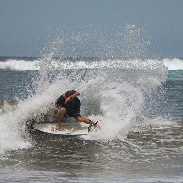 Ryan Carlson ryancarlsonsurf dispersing some water stomping on a LUNASURFhellip
