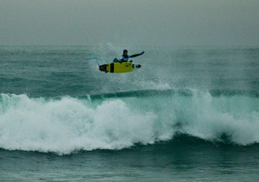 Iceland surfing air