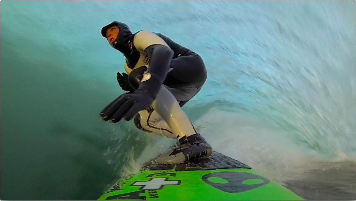 Ian Battrick Scotland GoPro3 surfing nose cam 2