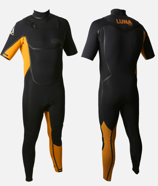 2mm short arm wetsuit black orange FB