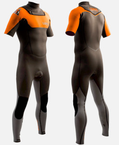 2mm short sleeve full wetsuit orange
