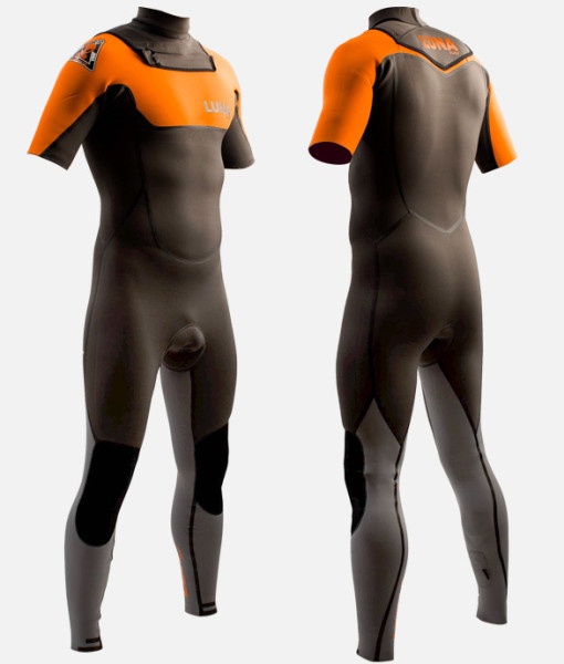 2mm short arm wetsuit orange 2 Grey