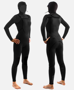 womens 4mm hooded wetsuit