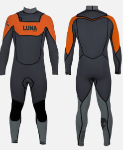 5.4mm wetsuit orange grey