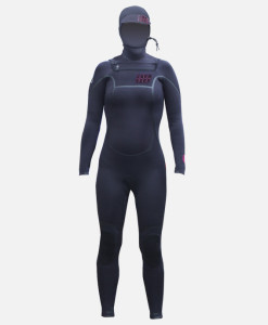 womens 6.4mm hooded wetsuit