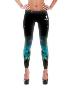 Luna Turquoise Nebula Leggings