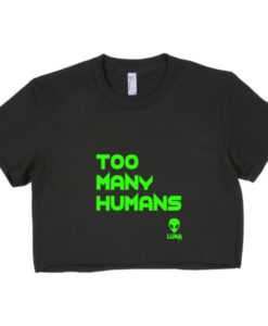 Too Many Humans Short sleeve crop top