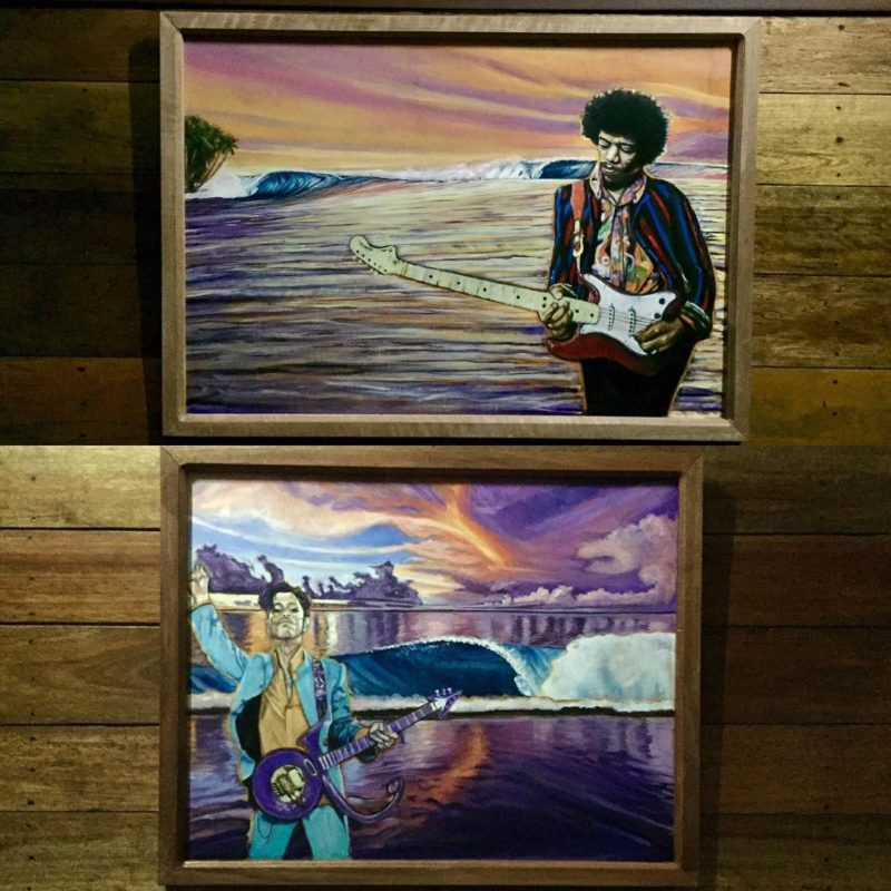I got to hang some paintings today at telosurfvilla hellip
