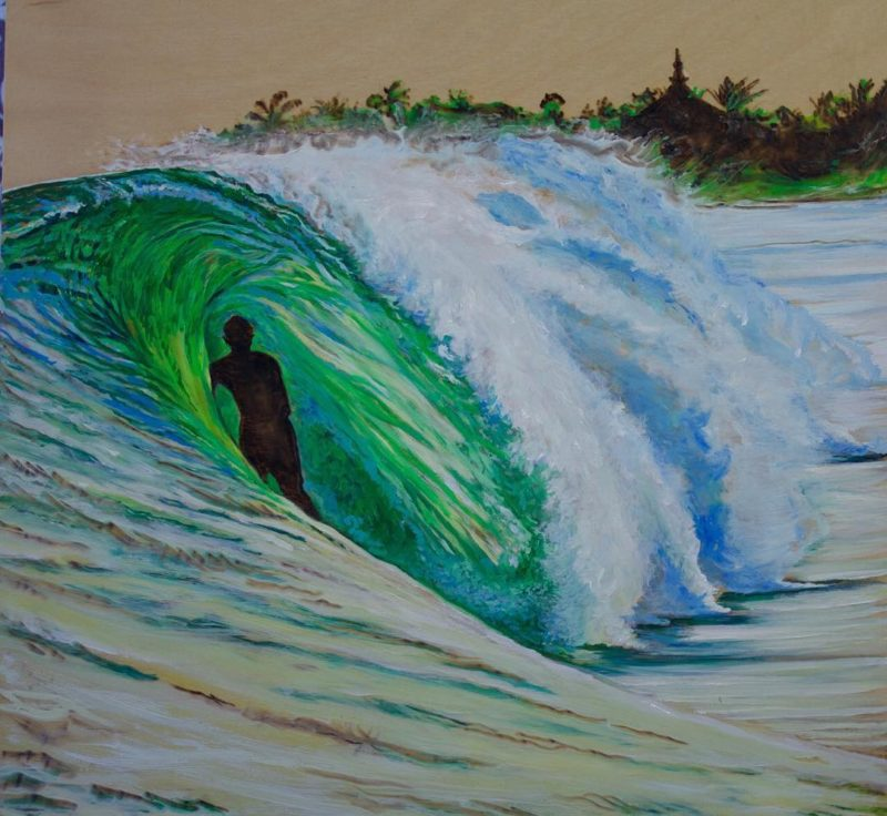 Happy International Surfing Day! This is my painting JJF Templehellip