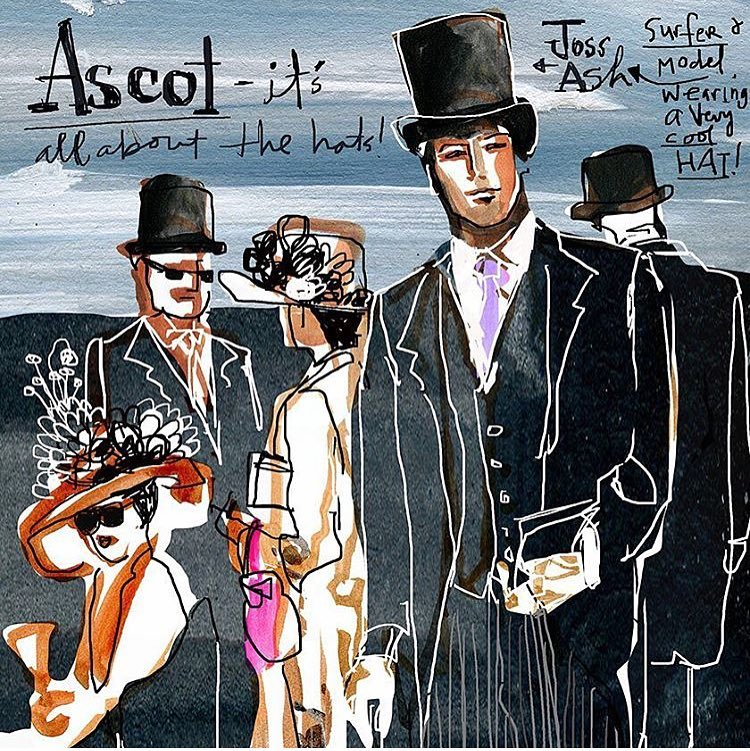 En route to Ascot illustration by Americas finest gaylekabaker withhellip