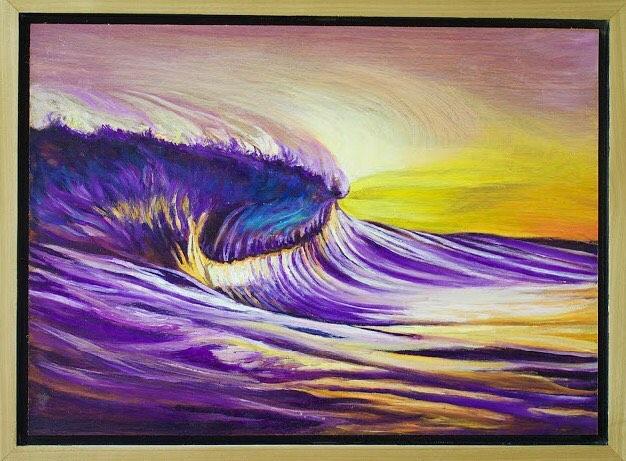 Purple Impact  oil on birch framed in poplar 10hellip