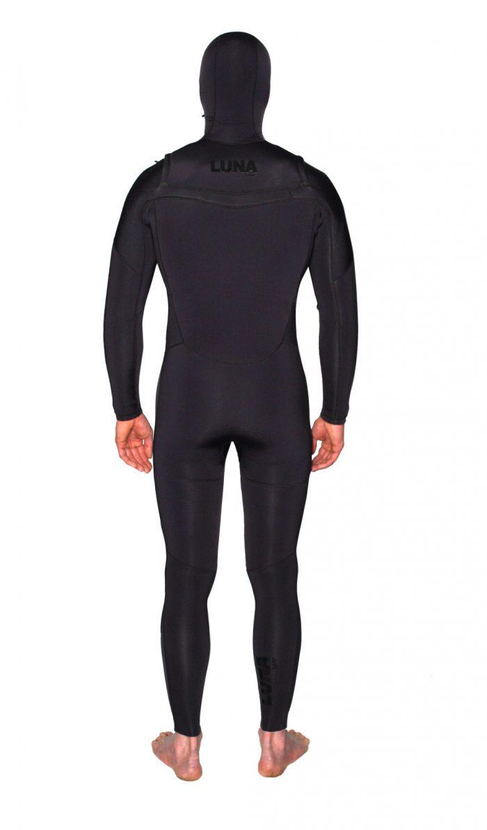 black hooded wetsuit