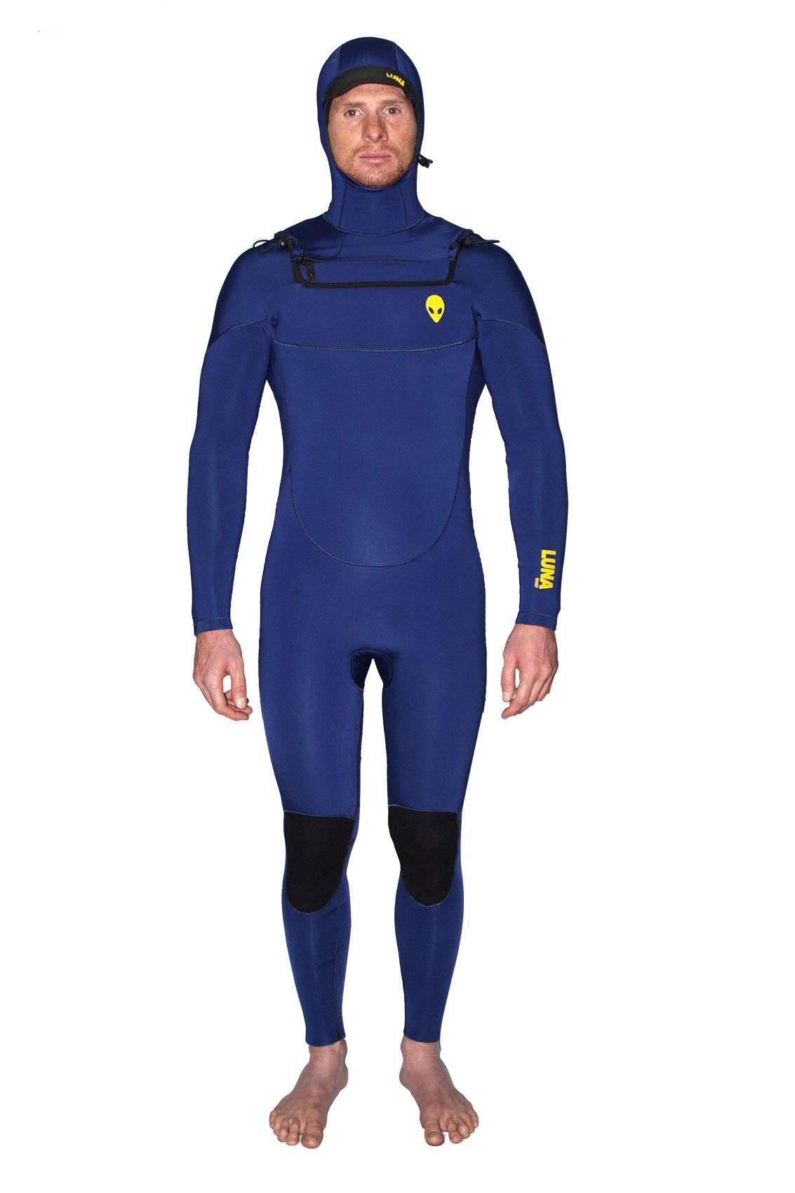 lunasurf 6.4mm hooded wetsuit