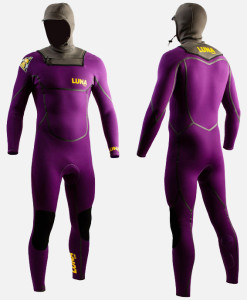 4mm hooded wetsuit purple