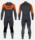5.4mm wetsuit orange grey