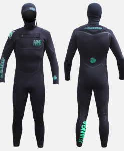 6.4mm hooded wetsuit black