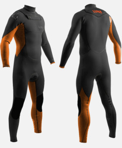 3.2mm wetsuit black orange