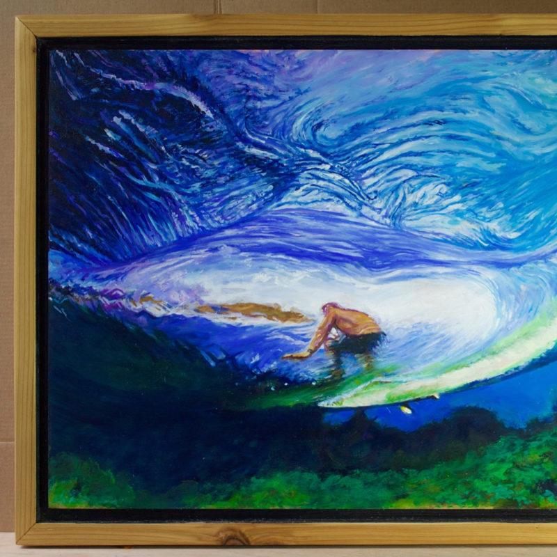 Fanning at chopes 14 x 20 oil on birch framedhellip