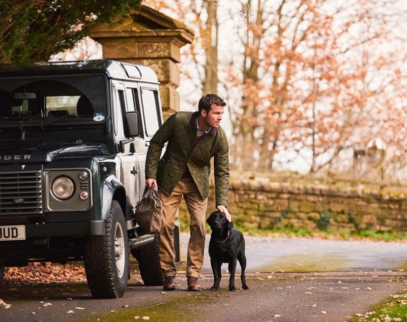 Little pat on the head Barbour AW17 landrover