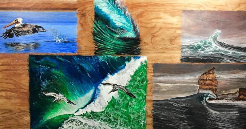 3 weeks of painting art surfart busy oilonwood busy