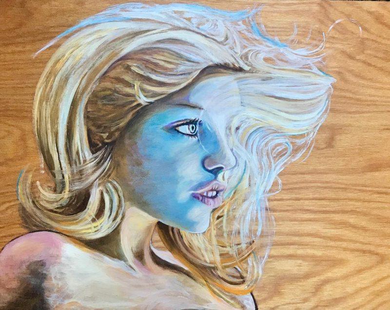 Deep Sea Siren 11x 16 original oil painting on birchhellip