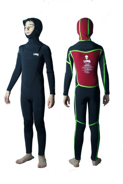 childrens 6.4mm hooded wetsuit